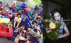 渋谷の街頭ビジョンに注目作家の映像作品が!の写真